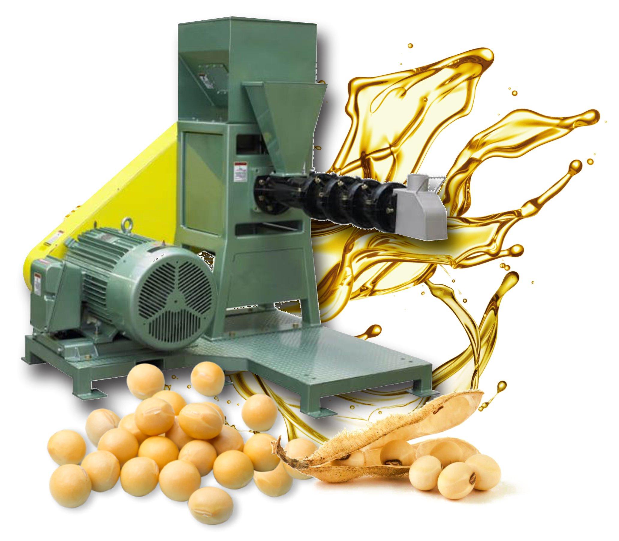 esta es una maquina de extrusión de maiz